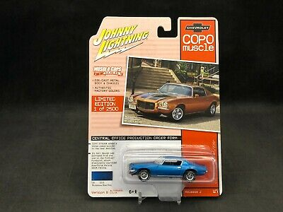 JOHNNY LIGHTNING 2020 COPO MUSCLE 2B BLUE 1970 COPO CHEVY CAMARO RS//Z28