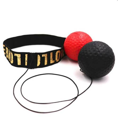 Boxing Punch Exercise Fight Ball Reflex Box REACT Speed Training Head Band Box