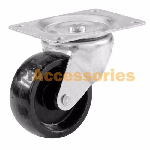 "8 Pcs 2/"" Swivel Caster Wheels Hard Plastic Base with Top Plate /& Bearing Set"