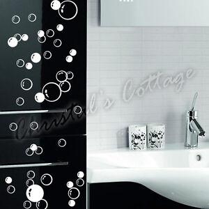 86 x adesivi murali bolle per parete bagno box doccia for Adesivi murali per bagno