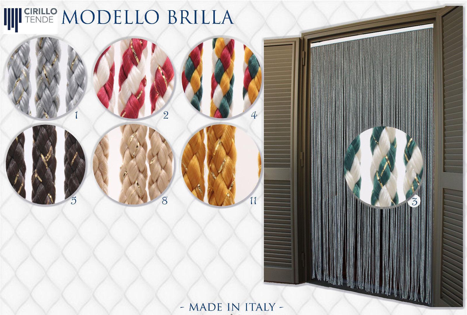 Kord Türvorhänge Modell Brilla, Aluminiumträger, Insektenschutz, Fadenvorhang