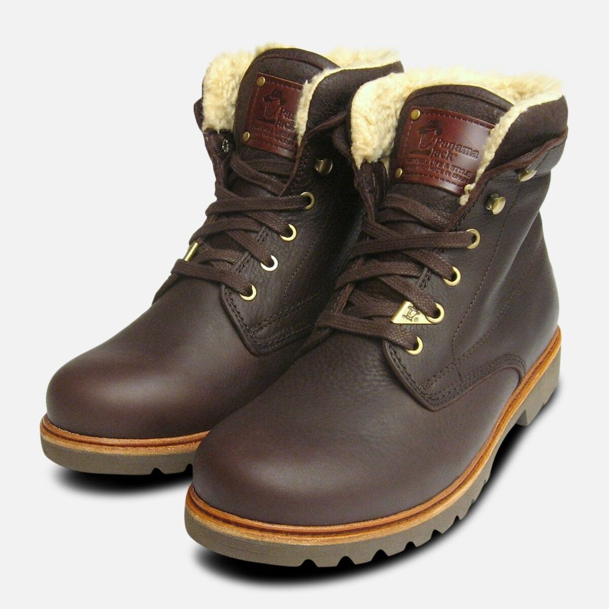 Havana Joe Mens Warm Lined Aviator Boots in Brown