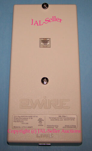 Factory Sealed 2Wire U-Verse DSL Filter Wall Mount Phones LFT4-1-WMPT
