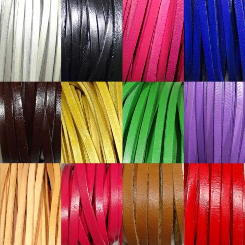 2 Metros Cuero Plano 5mm a Escoger A112 Leder Genuine Leather Cuir Cuoro Leer