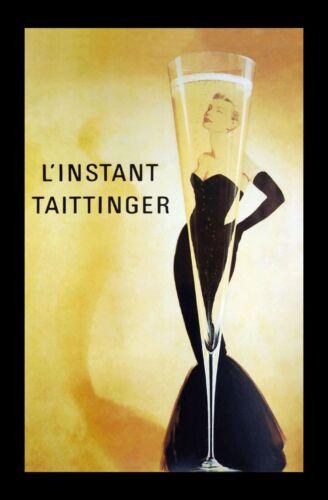 "24/""x36/"" Art Canvas Grace Kelly Champagne Ad L/'Instant Taittinger"