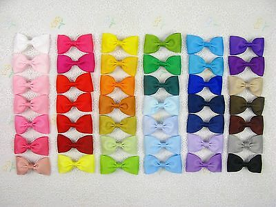 """2017 Wholesale 42 Grosgrain Sewn 2.5"""" Hair Bow Baby-42pc Colors without clips"""
