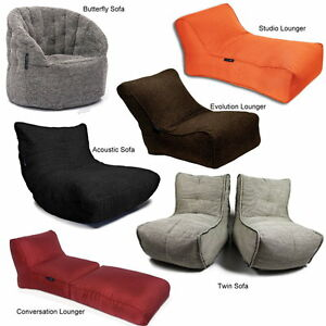 orig ambient lounge sitzsack m bel stoff sofa sessel kissen versch formen farben ebay. Black Bedroom Furniture Sets. Home Design Ideas