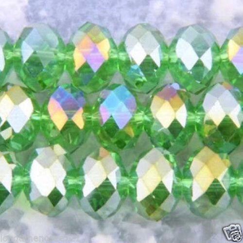 Facetas Rondelle Cristal Cristal Cuentas Elige Color