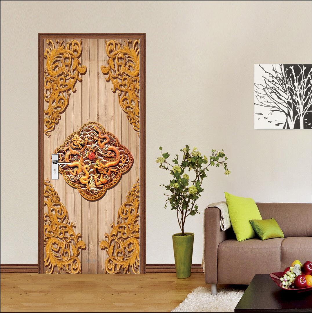 3D Muster 80 Tür Wandmalerei Wandaufkleber Aufkleber AJ WALLPAPER DE Kyra    Luxus    Schönes Aussehen    Starker Wert