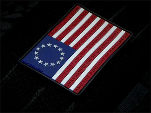 Betsy Ross Flag 3D PVC Morale Patch MoeGuns 2A American Patriot 3/% Militia