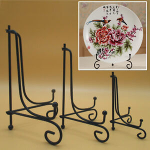 """""""4~12"""" Iron Easel Bowl Plate Art Photo Picture Frame Holder Book Display Stands"""