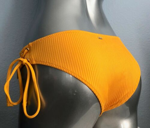 Details about  /PINK Victorias Secret New Marigold Mini Cheekster Ribbed Lace Up Bikini Bottom