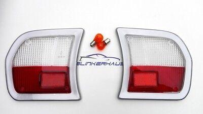 Clear Red Peugeot 504 Gr Sr Srd L Gl Ti 1968 1983 Italian Rear Light Lenses Ebay