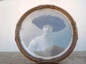 Cadre photo rond bronze Laiton d'époque 19ème OqmFGVkx-07223735-748879127