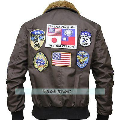 Cordura Jacket - Tom Cruise TOP GUN Pete Maverick's Bomber Brown Jacket