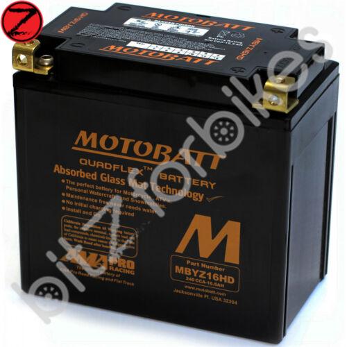 2002-2005 Motobatt Battery MBYZ16H Suzuki GSX 1400