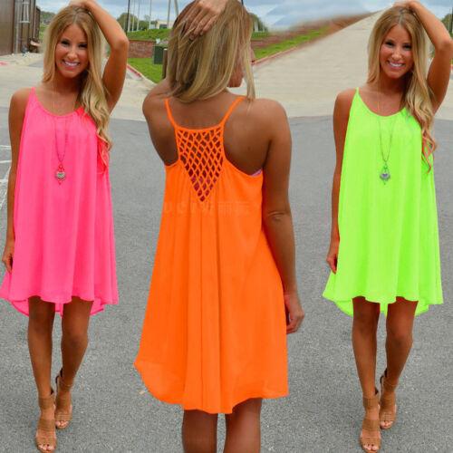 Chiffon Strandkleid Boho Kleid Partykleid Minikleid Negligee Clubwear NEU BC251