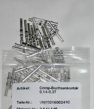 100 St. Crimp Buchsenkontakte VN 02 016 0024 1 für Harting,Multicore,0,14 - 0,37