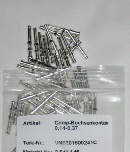 Crimp Buchsenkontakte VN 02 016 0024 1 für Harting,Multicore,0,14-0,37 100 St