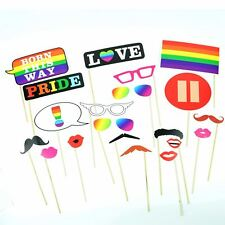 Gay Pride Parade Festival Photo Booth Props GLBT Wedding Decorations Accessories