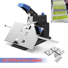 Office Desktop Stapler Manual Stitcher Flatsaddle Binding Machine Max 65mm