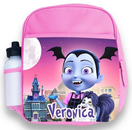 Personalised Kids Pink Backpack Any Name Vampirina Girls Childrens School Bag 4
