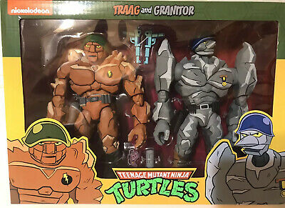 TRAAG AND GRANITOR IN-HAND READY TO SHIP* NECA TARGET EXCLUSIVE 2-PACK TMNT ✅✅