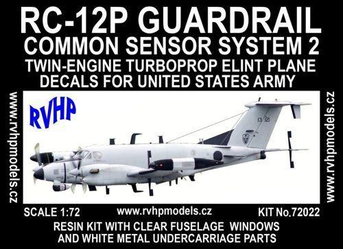 RVHP Models 1 72 Beechcraft RC-12P Guardrail CSS2 (USAF) Model Kit