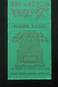 1950s Lester S Hickory Inn Home Of Hickory Broiled Steaks Brook Wichita Falls Tx Ebay