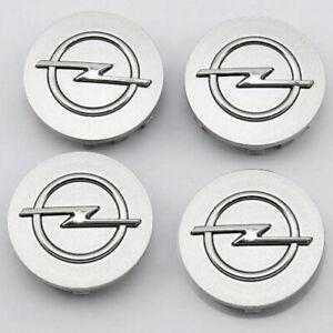 4x-65mm-Opel-Nabendeckel-Felgendeckel-Nabenkappen-Grau
