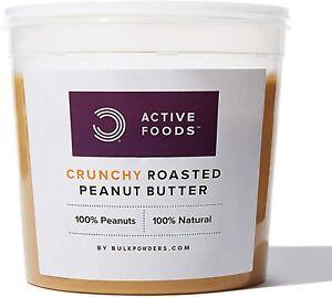 BULK POWDERS Natural Roasted Peanut Butter Tub, Crunchy, 1 kg