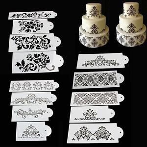 Lace-Flower-Cake-Cookie-Fondant-Side-Baking-Wedding-Stencil-Decor-DIY-Tools-ES