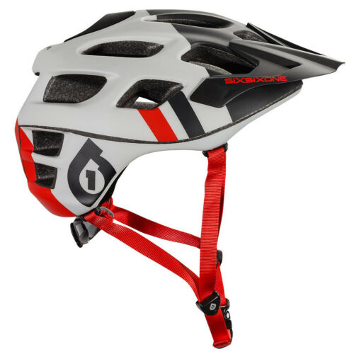 661 SIXSIXONE RECON MTB MOUNTAIN BIKE CYCLING HELMET GREY BLACK RED