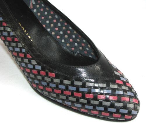 Neuf Comme Noir Jeanne 38 Escarpins Chaussures Ronan gris rose Vintage bleu IzIqv