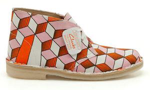 Clarks Originals Deserto Stivali ELEY Kishimoto Arancione/Rosa UK 6.5 C