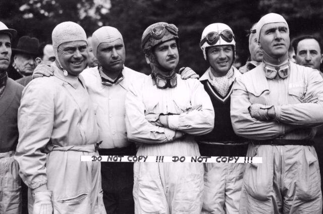 9x6 Photograph  Fangio / Farina  / Trintignant / Manzon / 1950s Portrait