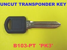 NEW UNCUT PK3 Transponder Chip Key Blank B103-PT 88951932 690556 For GM