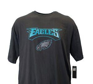 Philadelphia-Eagles-Logo-Black-NFL-Majestic-T-Shirt-Men-039-s-Big-and-Tall-nwt