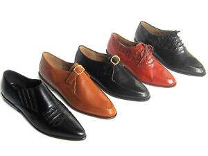 36774f6174f3 Details about Womens Classic Casual Work Pointed Toe Oxford Leather Shoes  VARIETY to CHOOSE