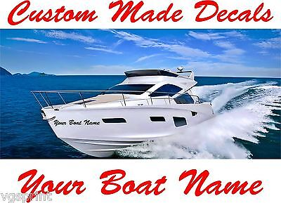 2x BOAT NAMES STICKERS GRAPHICS DECALS CHOICE OF COLOURS CARAVAN//MOTORHOME 280mm