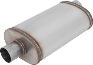 MAGNAFLOW-2-034-INCH-INLET-2-034-OUTLET-5x8-034-OVAL-MUFFLER-CENTER-OFFSET-STAINLESS-SS