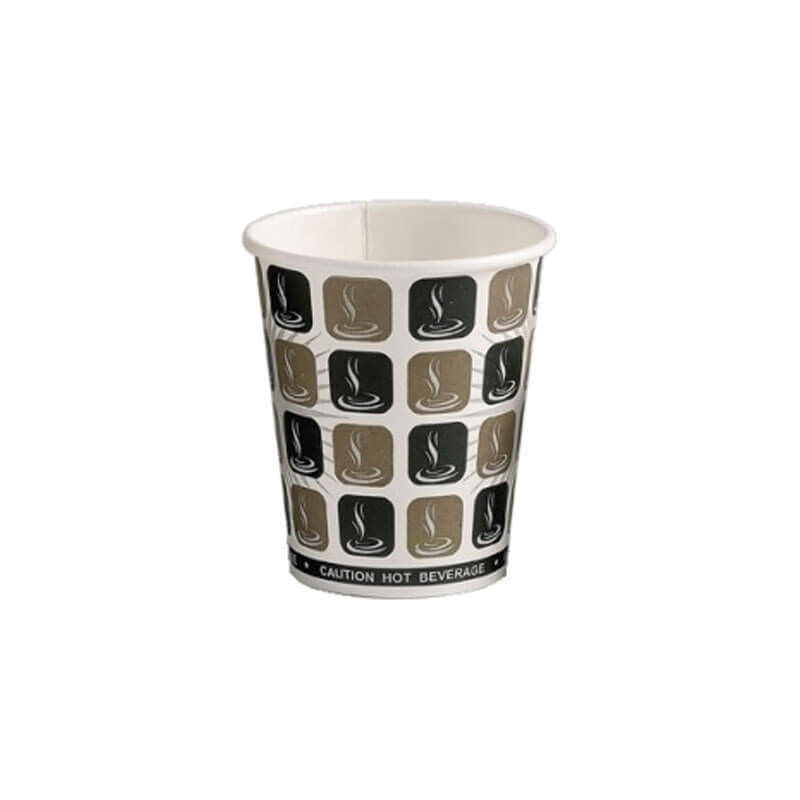 500 x 10oz Mocha Cafe Coffee Cups Paper Single Wall Disposable