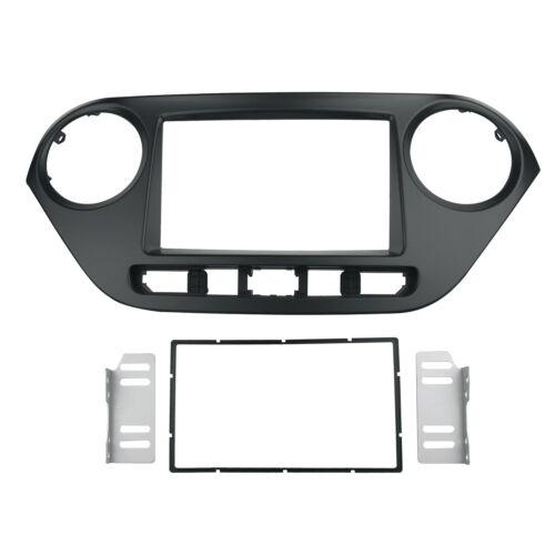 2 Din Audio Stereo Panel for 2014 Hyundai i-10 Dash Kit Installation Fascia Trim