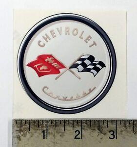"Vintage Corvette 1953 new sticker decal 3"" diameter"