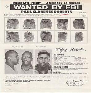 FBI-WANTED-POSTER-PAUL-CLARENCE-ROBERTS-INTERSTATE-FLIGHT-ACCESSORY-MURDER5-6-63