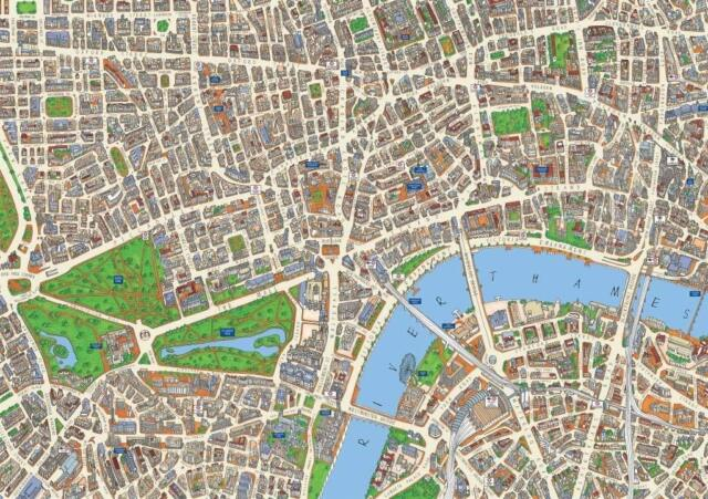 Central London Street Map.Central London Street Map 1000 Piece Jigsaw Puzzle 690mm X 480mm Jg