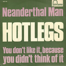 "HOTLEGS (PRE 10CC) – Neanderthal Man (NEAR MINT 1970 VINYL SINGLE 7"" DUTCH PS)"