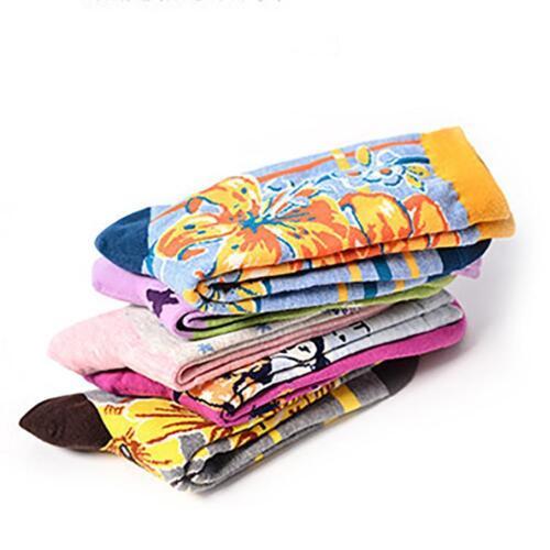 Cute Fashion Women Lovely  floral Socks Cartoon Cotton Socks Warm 1 Pair New