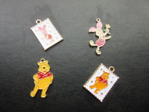 Winnie The Pooh lechón Encantos Colgantes Esmalte Metal