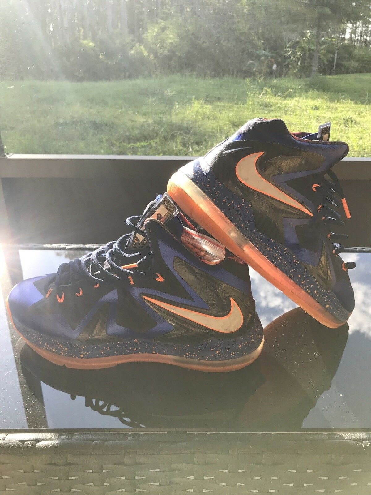 Lebron 10 Super Hero Knicks Navy Black Royal orange
